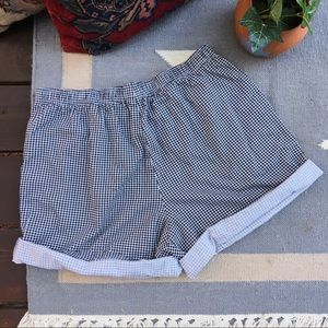 Vintage Shorts - Vintage High Waisted Gingham 80s 90s Shorts